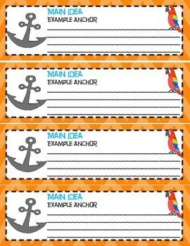 Main Idea Anchor Chart Poster- Common Core Aligned