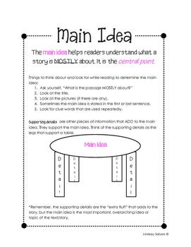 Main Idea Anchor/Notes