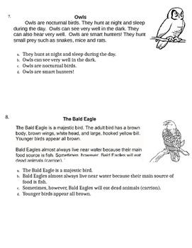 Main Idea Assessment Informational Text 1