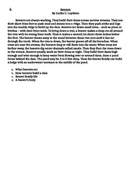Main Idea Assessment Informational Text 2