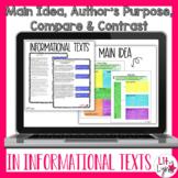 Digital Main Idea & Author's Purpose | Informational Texts