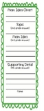 Main Idea Bookmark - green