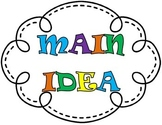 Main Idea Bulletin Board, Main Idea Anchor Chart