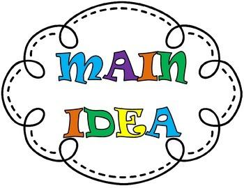 Main Idea Bulletin Board, Main Idea Anchor Chart