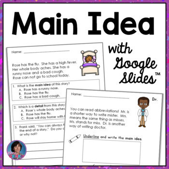 Main Idea  and Supporting Details Reading Comprehension Passages Bundle