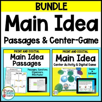 Main Idea Center and Passages For Comprehension Bundle