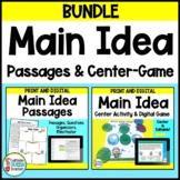 Main Idea Passages and Center BUNDLE - Editable!