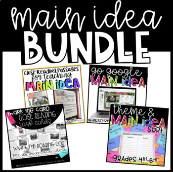 Main Idea Bundle of Resources