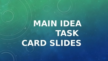 Main Idea Card Powerpoint for Daily 5 Stations and DIY for PBL