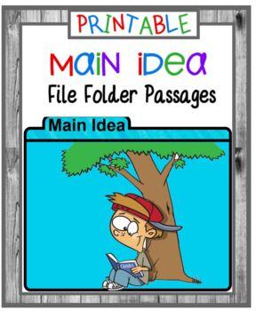 Main Idea Card Set