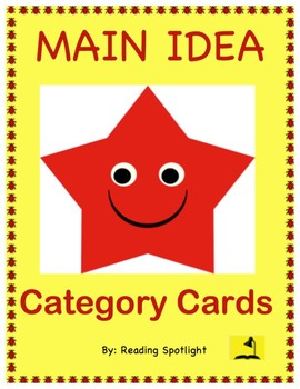 Main Idea Category Cards (Distance Learning)