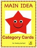 Main Idea Category Game