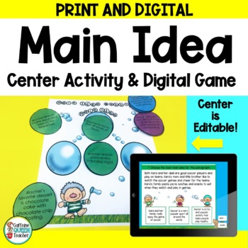 Main Idea Center - Editable and Differentiated
