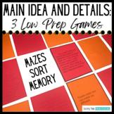 Main Idea Centers - Main Idea Games in Nonfiction - Print