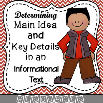 Main Idea (Central Idea) - Key Supporting Details RESOURCES
