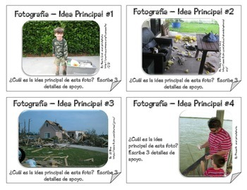 Main Idea Challenge - Sorting Game in Spanish