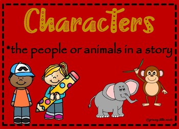 Main Idea, Characters, Setting, Authors Purpose, Sequencing Anchor Charts