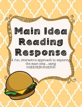 Main Idea Cheeseburger Reading Response