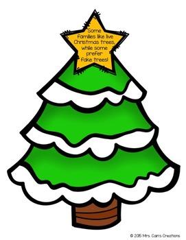 Main Idea Christmas Tree Activity Pack