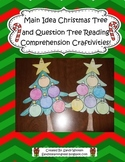 Main Idea Christmas Tree & Question Tree Comprehension Book Craftivities!