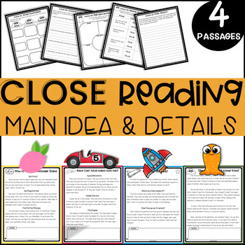 2nd Grade Reading Comprehension Passages and Questions for MAIN IDEA