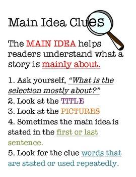 "Main Idea ""Clues"" Anchor"