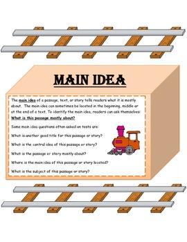 Main Idea Common Core Standards Activity- Can You Track The Main Idea/Details?
