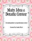 Main Idea Comprehension Center