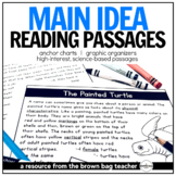 Main Idea Comprehension Passages: Animals & Habitats for Distance Learning