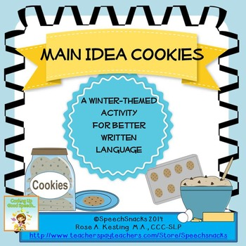 Main Idea Cookies {for older students--middle/high school}