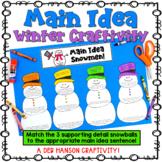 Main Idea Craftivity for Winter