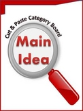 Main Idea Cut & Paste Category Board -Guided Practice or Assessment