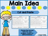 Main Idea Cut and Paste Nonfiction Passages