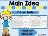 Main Idea Cut and Paste Nonfiction Passages