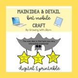 Main Idea & Detail Bat Mobile Craft (Obtober/Halloween/Cra