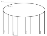 Main Idea & Detail Blank Graphic Organizer