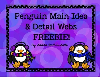 Main Idea & Detail FREEBIE!