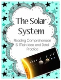Solar System Non-Fiction Reading Comprehension and Main Idea & Detail Practice