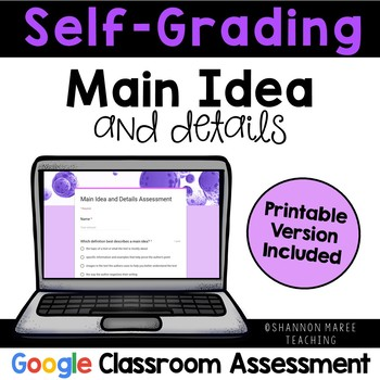 Main Idea and Details Assessment