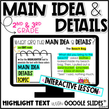 main idea 2nd grade pdf