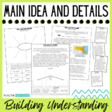 Main Idea & Details Activities, Scaffolded Practice to Bui