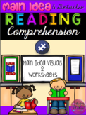 Main Idea & Details Autism Reading Visuals & Worksheets