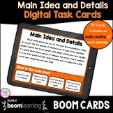 Main Idea & Details Boom Cards™ 4th & 5th Grade - Distance Learning Task Cards