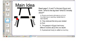 "Main Idea, Details, Comprehension of a Reading A-Z book ""Ancient Egypt"", Senteo"