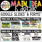 Main Idea & Details Digital Reading Activities Google Slides™ & Google Forms™