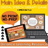 Main Idea & Details - Digital Speech Therapy Game