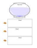 Main Idea -Details Graphic Organizer - Goldfish Themed