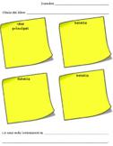 Main Idea & Details Graphic Organizer in Spanish/Idea principal y detalles