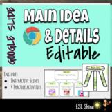 Main Idea & Details Interactive Google Slides w/ 4 Online Activities