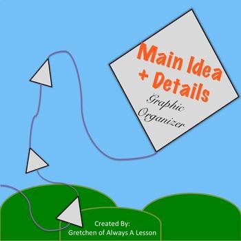Main Idea & Details Kite Graphic Organizer